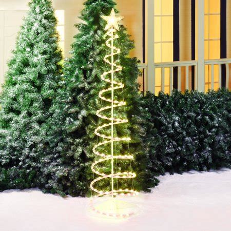 4 ft spiral christmas trees at walmart time 6 lighted spiral tree sculpture clear walmart