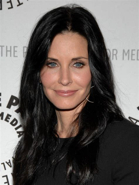 cougar hair styles courteney cox s long straight cut haute hairstyles for