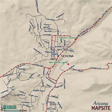 sedona az map city map of sedona city maps