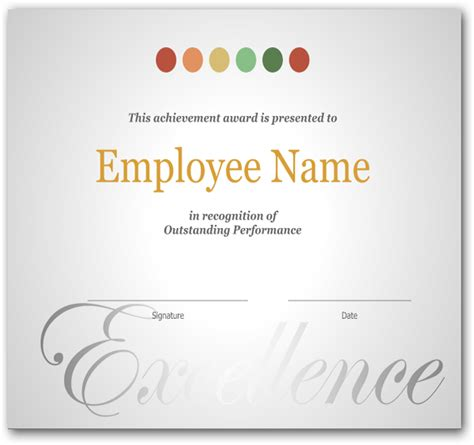 employee recognition certificate template employee appreciation certificate