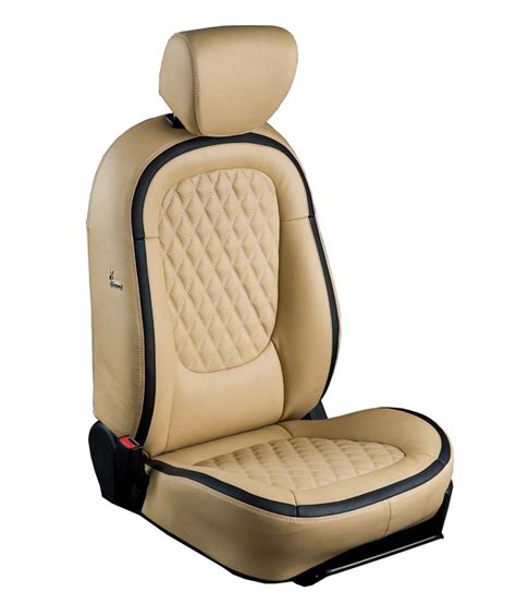 Leather Seat Covers by Ovion White Leather Seat Covers Available At Snapdeal
