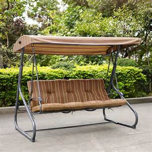 coral coast brookhaven 3 person striped canopy swing porch swings at hayneedle