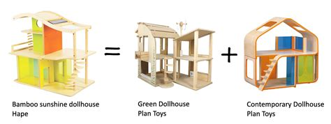 plan toys eco house plan toys green dollhouse with furniture roselawnlutheran