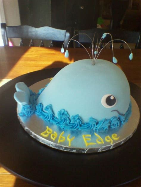 whale baby shower cake my cakes - Whale Baby Shower Cakes