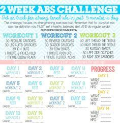2 week abs on 1 week abs home exercise plan