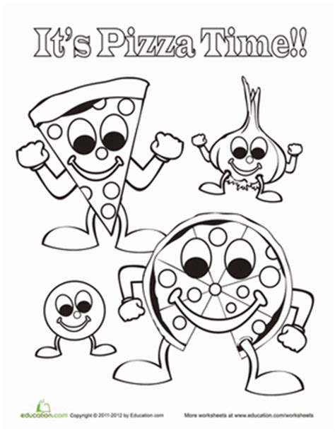 pizza coloring pages preschool the pizza colouring pages page 2