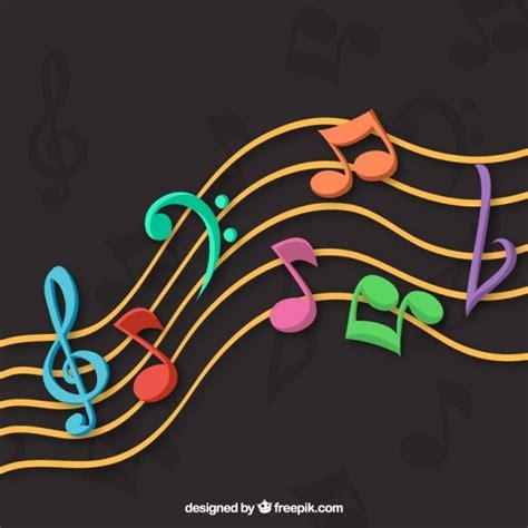 dark color musical notes vector dark background with colorful musical notes vector free