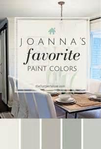 Joanna gaines five favorite fixer upper paint colors