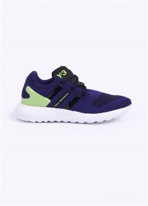 adidas y3 pure boost y 3 pure boost zg knit trainers collegiate purple white