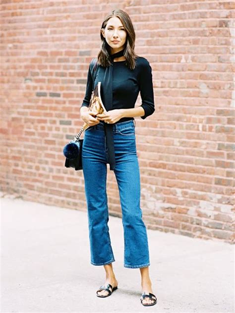 are flare jeans still in style 2016 7 rules for wearing cropped flared jeans whowhatwear