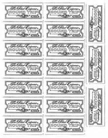 polar express ticket printable template polar express tickets lovetoteach org free printable