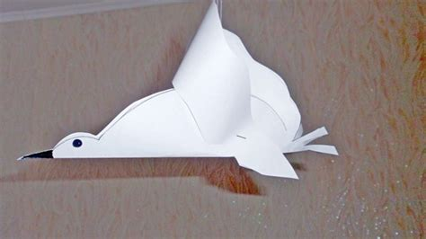 White Paper Crafts - make a white paper pigeon diy crafts guidecentral