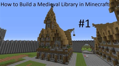 minecraft how to build a library youtube how to build a medieval library in minecraft part 1