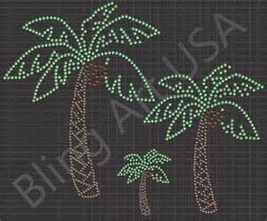 rhinestone palm tree download templates patterns coconut
