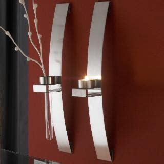 kerzenhalter wand modern wandkerzenhalter modern edelstahl 2er set f 252 r