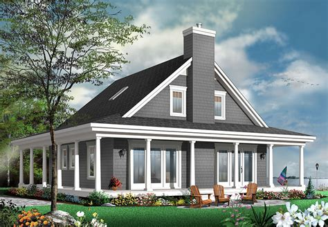 Cottage House Plans With Garage unique country cottage house plan with wraparound porch