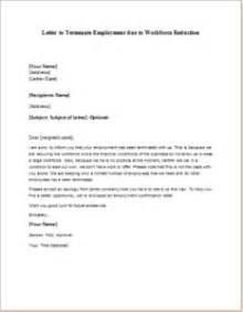 reduction in letter template letter to terminate employment due to workforce reduction