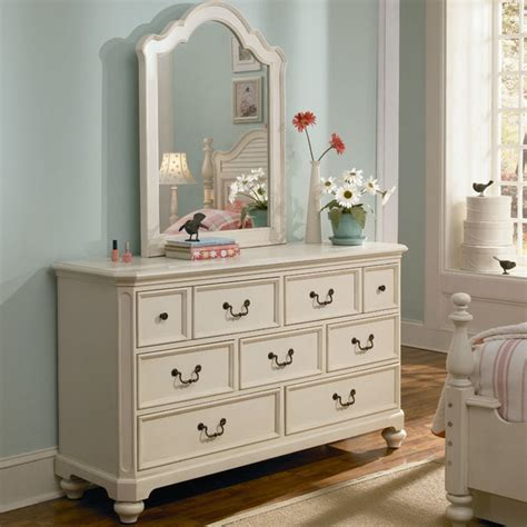 White Bedroom Dresser Retreat In Antique White 7 Drawer Dresser Modern By