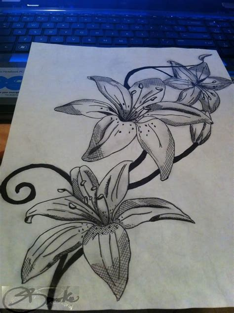 lily tattoo designs free ideas and designs page 4