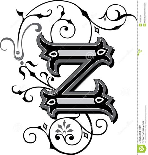 beautiful ornament letter z stock photos image 38518063