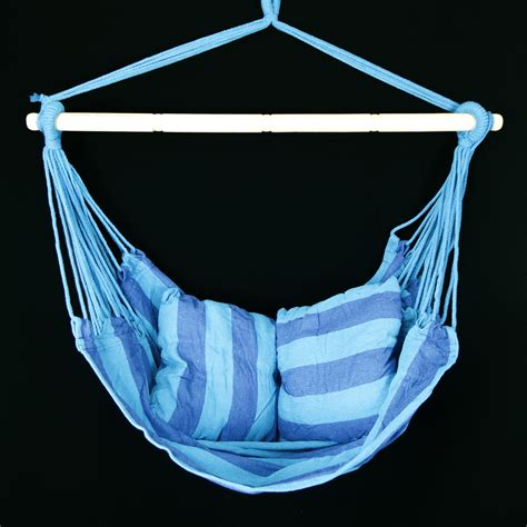 new hanging rope chair patio swing seat blue teal outdoor