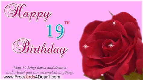 Happy 19th Birthday Wishes Happy 19th Birthday Greetings Greeting Cards