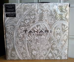 new tahari taupe silver paisley medallion 3pc