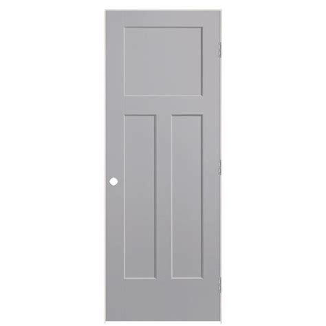 Craftsman 3 Panel Interior Door by Shop Masonite Winslow Driftwood 3 Panel Craftsman Single