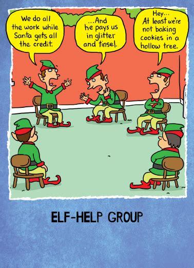 funny christmas card elf   cardfoolcom