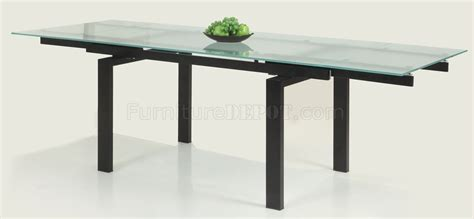 Glass Table Extendable Top Modern Dining Table W Optional Glass Top Extension Dining Tables
