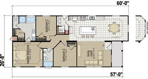 Home Floor by Redman Mobile Home Floor Plans