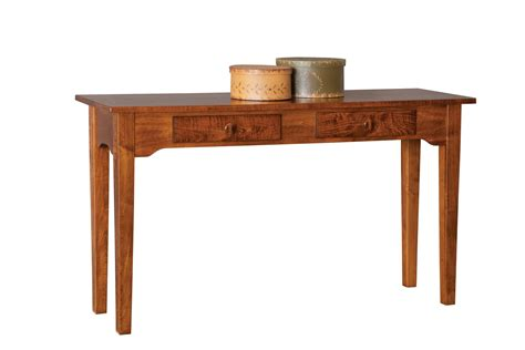 amish sofa table amish deluxe shaker sofa table