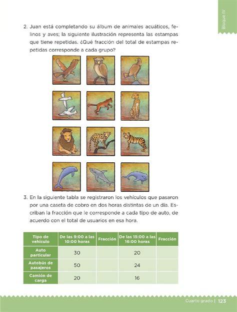 libro de matematicas 2015 y 2016 pag 125 con respuestas paco el chato 191 qu 233 fracci 243 n es bloque iv lecci 243 n 66 apoyo primaria