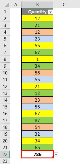 excel sum by color sum by color in excel exles how to sum by colors in