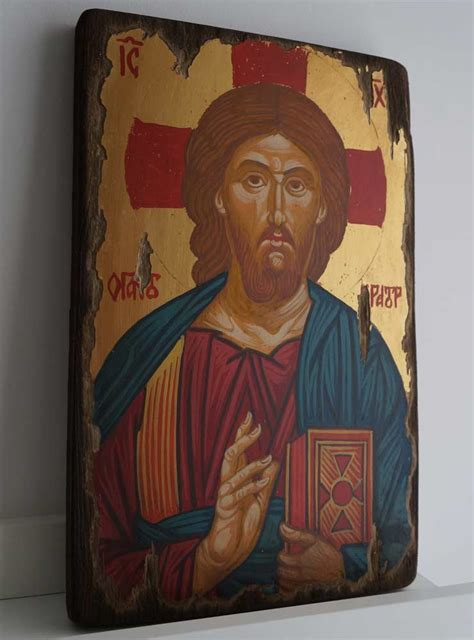 lord jesus hairstyle christ the merciful antique style hand painted icon