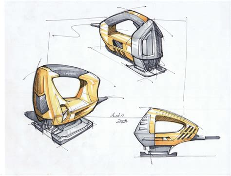 design concept of a powered hand tool power tool sketches by austin scott at coroflot com