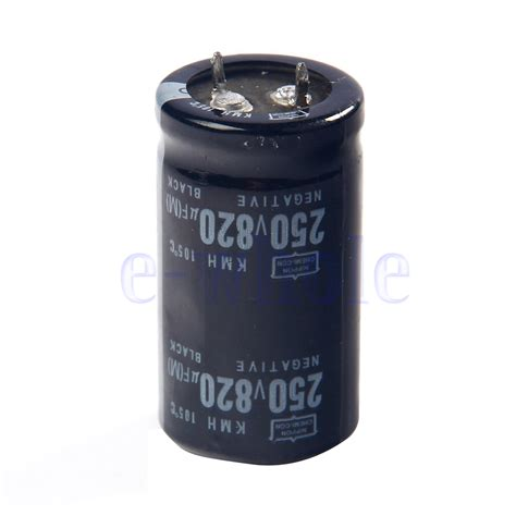 250v capacitor 820uf 250v electrolytic radial capacitor dip new 1pcs dt