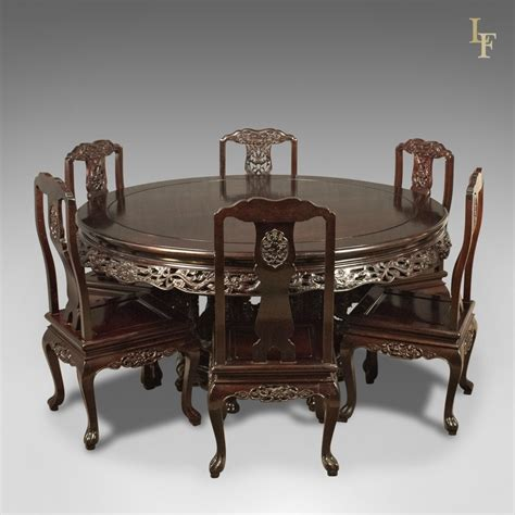 traditional oriental rosewood dining table  set