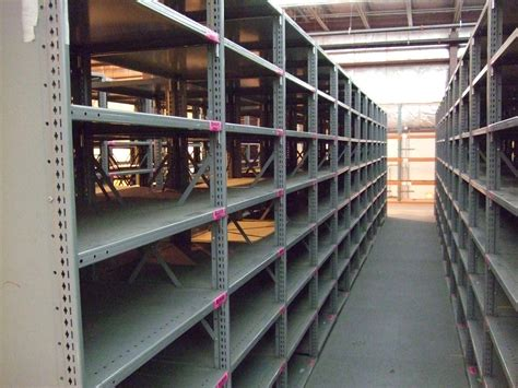 new used steel shelving