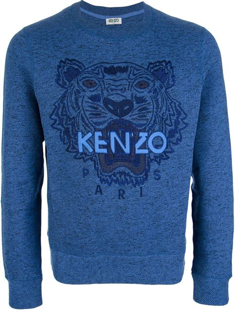 Sweater Kenzo Kenzo Embroidered Tiger Sweater In Blue For Tiger Lyst