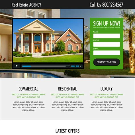 Landing Page Design The Best Real Estate Landing Pages by Beautiful Real Estate Home Page Design Pictures Interior