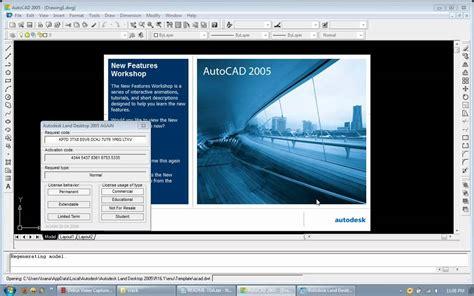 autocad tutorial windows tutorial for activating registering autocad 2005 windows