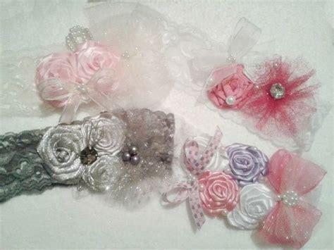 imagenes listones rosas set de tiaras de encaje el 225 stico con flores de list 243 n