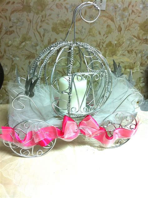 free how to make a princess carriage ribbon sculpture cinderella coach centerpiece wedding pinterest the