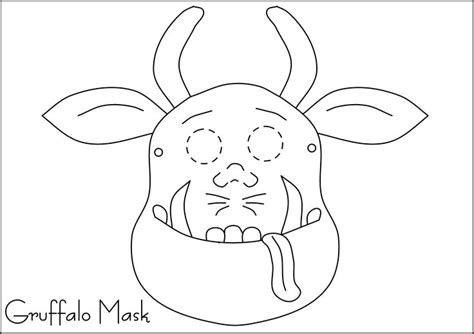 printable mouse mask template 9 best images about gruffalo on pinterest mouse mask