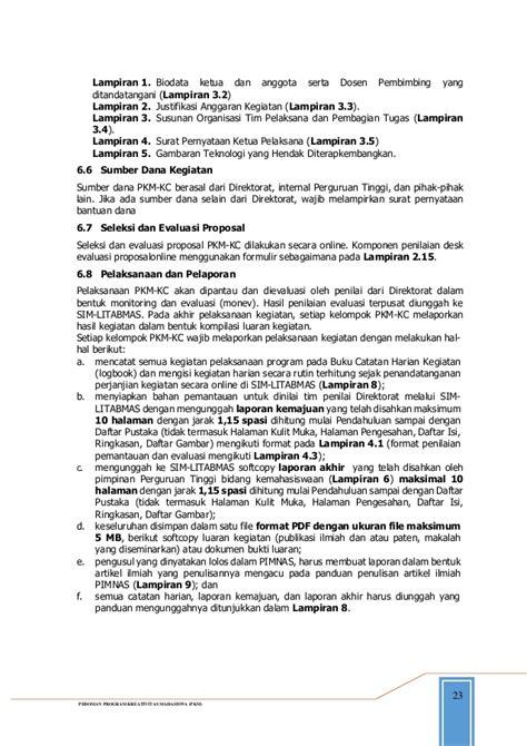 format biodata anggota pkm pedoman pkm tahun 2015