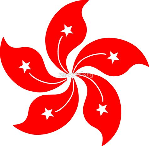 Wall Stickers For Babies hong kong flag stickers redbubble