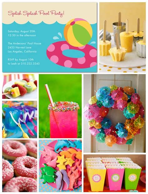 Summer Party Ideas | pool party inspiration board birthdays summer and