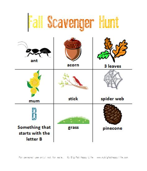 how to a backyard scavenger hunt with free printable
