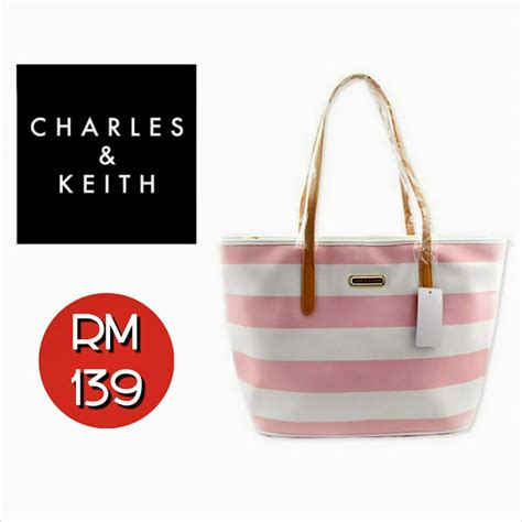 Charles Keith 159184 Original 100 charles keith shopping bag blue purple pink